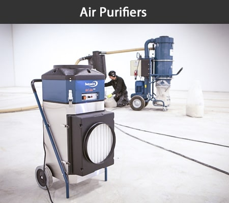 Portable large and small HEPA air purifiers for hire at Aircon Hire, Dublin