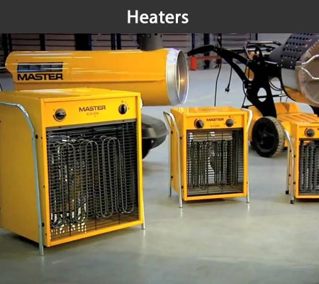 Portable electric, propane and kerosene heaters for hire at Aircon Hire, Dublin